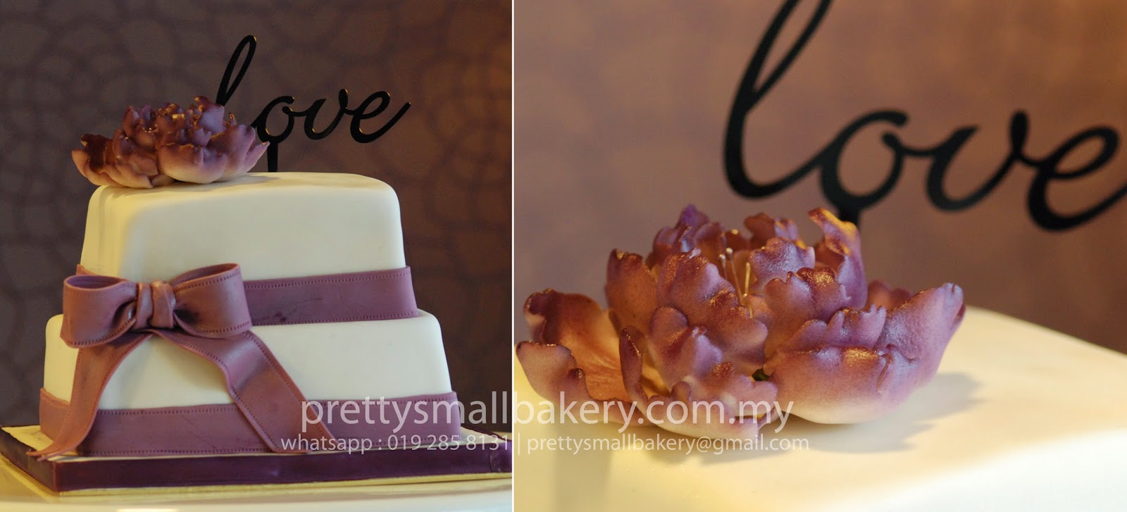 kek tunang tiga tingkat
