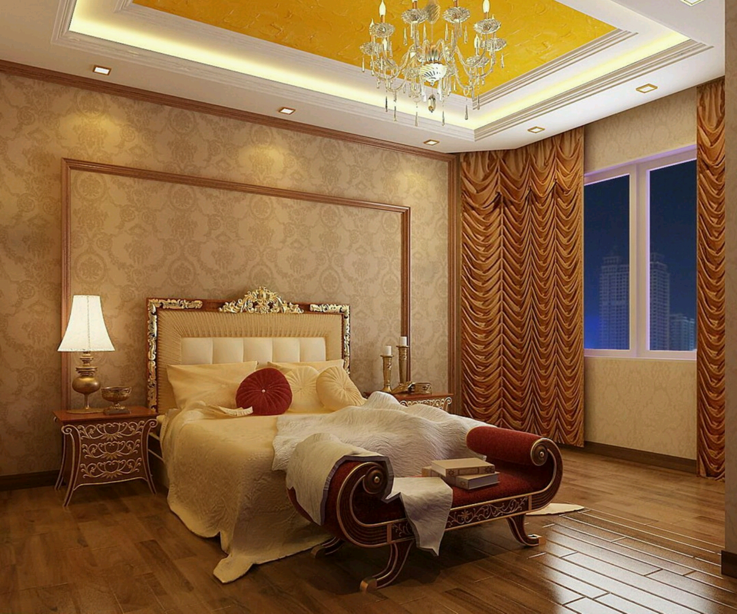 modern homes luxury bed rooms furniture bed designs - Luxurious Bed Designs
