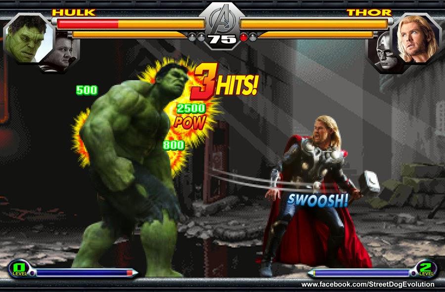 Hulk vs Thor StreetDogEvolution
