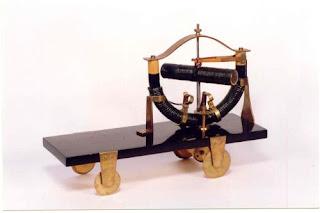 Jedlik Ányos elektromágneses forgógéppel felszerelt modellje