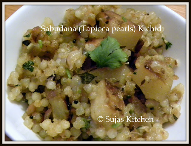 North Indian Vrat Recipe - Sabudana Kichidi- Made with Tapioca pearls/Jawarisi.