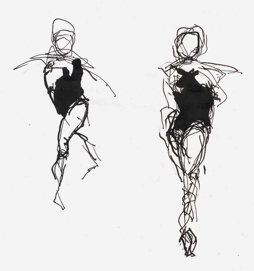 dice  dibujo de figura humana en movimiento