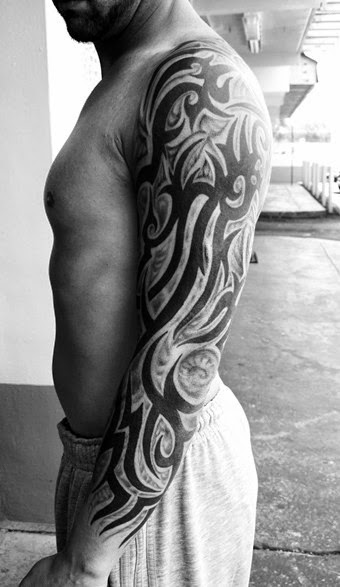 13 awesome tribal arm tattoos designs. Black Bedroom Furniture Sets. Home Design Ideas