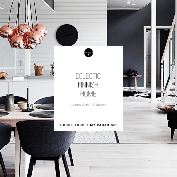 Eclectic finnish home with black walls | My Paradissi