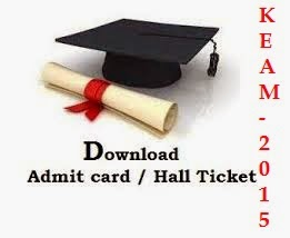 KEAM 2015 Download Admit Card Hall Ticket