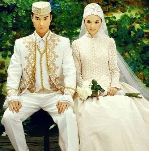 Model Baju Busana Pengatin Muslimah Modern Paling Populer