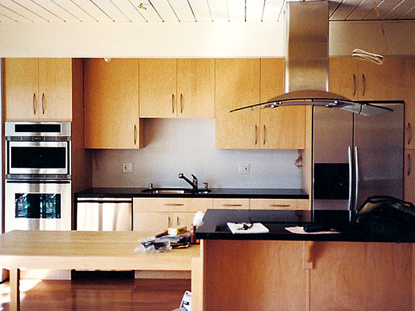 Stainless Kitchen Interior Designs With Hardwood Floors