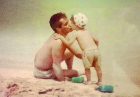 Manfredi insieme al padre