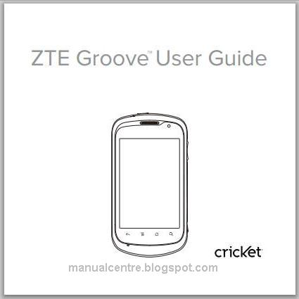 ZTE Groove Manual Cover