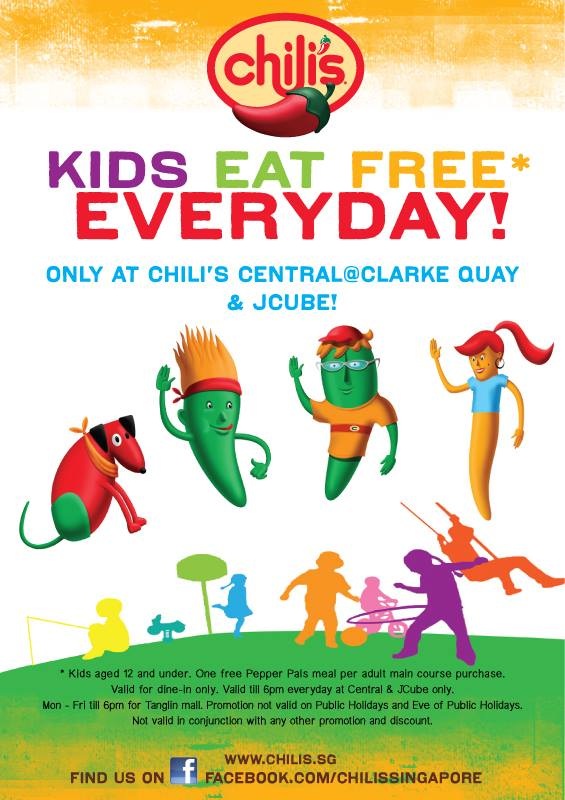 Foodiefc Chili S Singapore Kids Eat For Free Promotion