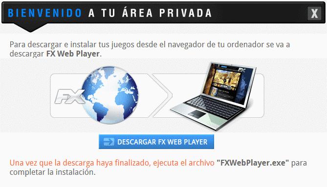 Instalación FX Web Player