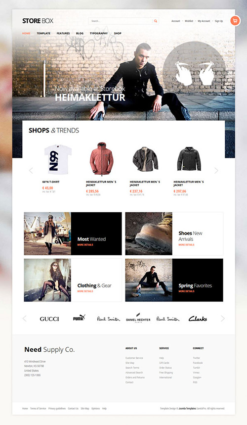 e-Commerce Joomla 2.5 Shop Template