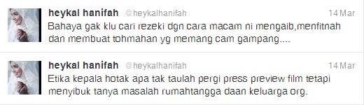 Faezah Elai Maki Di Twitter Mengadu Kepada Suami