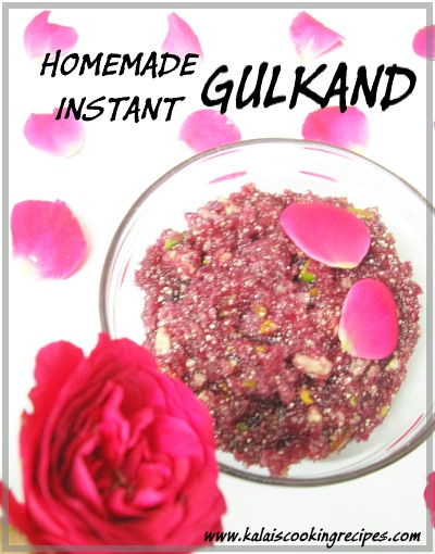 Homemade Gulkand