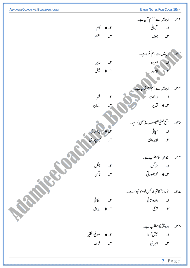 urdu essays in urdu for class 12th