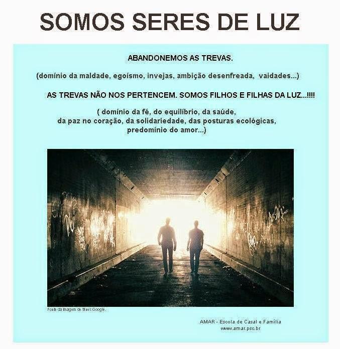 SOMOS  SERES DE LUZ...!