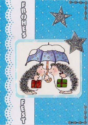 theras karten und basteleien weihnachtliche igelchen. Black Bedroom Furniture Sets. Home Design Ideas