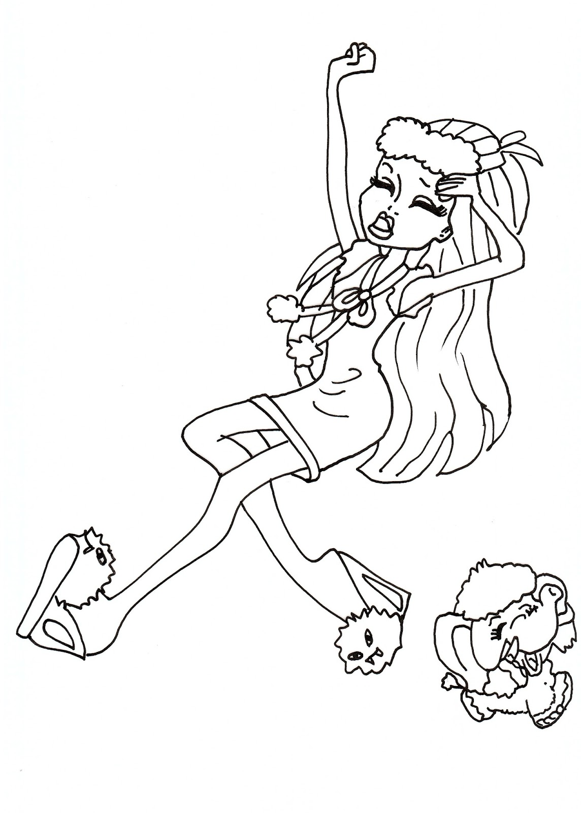 Free Printable Monster High Coloring Pages Abbey Dead Tired