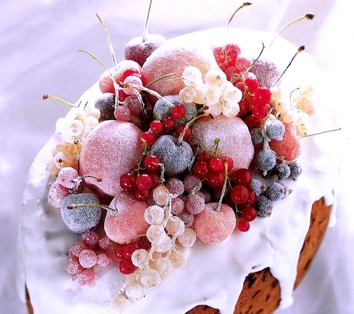 Ricetta e ricette come si fa la frutta brinata per decorare - Decorazioni natalizie per dolci ...
