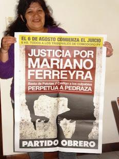 OLGA GONZÁLEZ, TRABAJADORA Y LUCHADORA SOCIAL, TAMBIÉN QUIERE JUSTICIA POR MARIANO