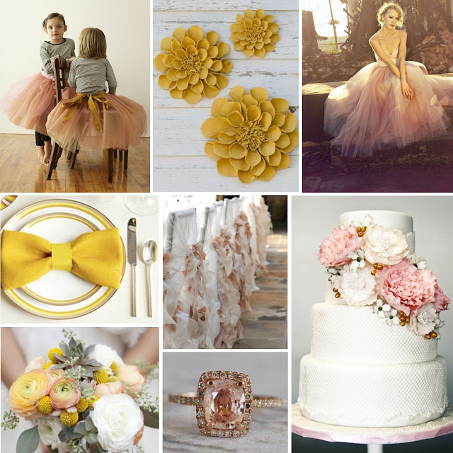 Wedding Wednesday Peach and Gold