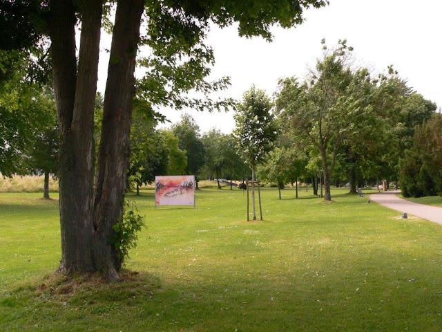 kehl urlaub camping sommer rhein ufer rheinpromenade Grenzüberschreitender Versöhnungsweg garten der zwei Ufer Kunstinstallationen