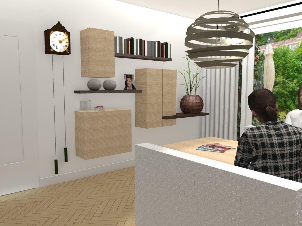 Arnoud herberts interieurarchitect bezig ontwerpen for Woonkamer ontwerpen