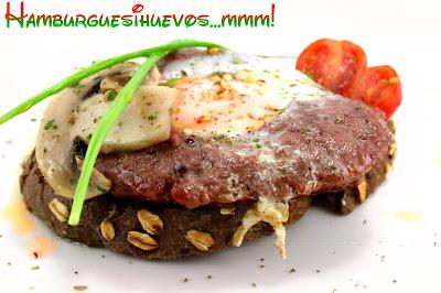 hamburguesas, hamburguesas caseras, receta de hamburguesas, carnes, burgers, hamburgers, huevos, recetas originales, recetas de cocina, recetas caseras, humor, pan alemán, champiñones