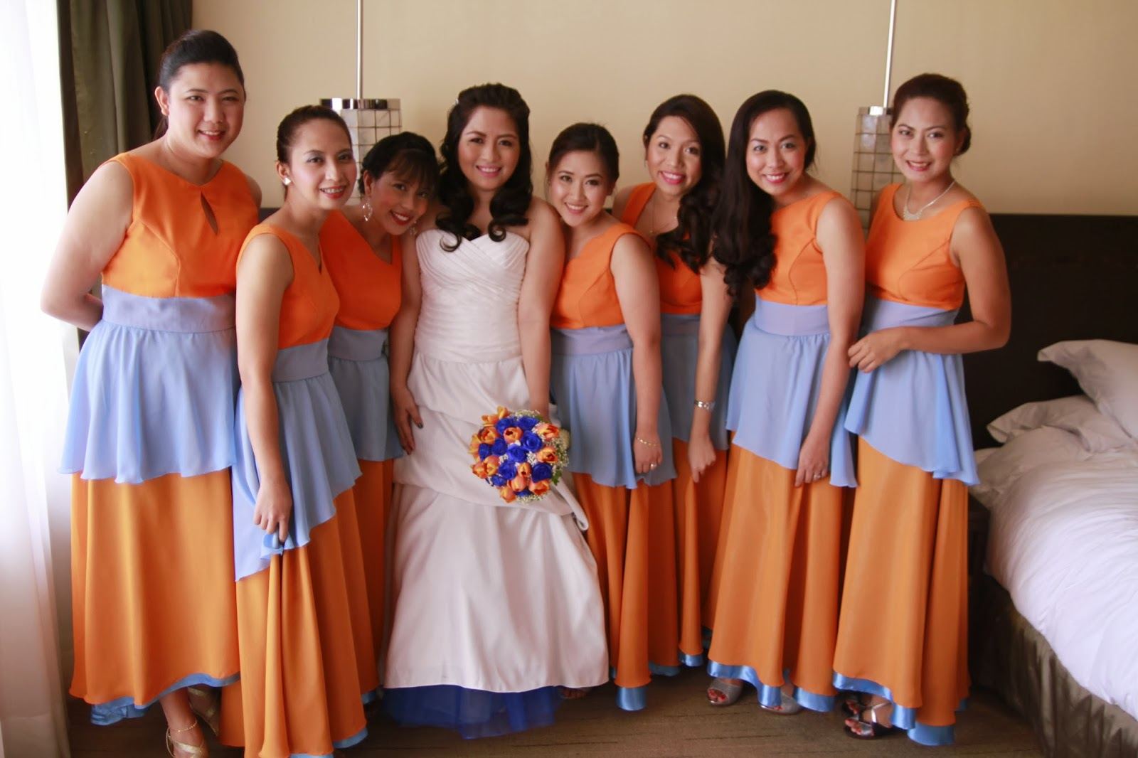 That happy day entourage dresses by the secret creations by edgar the fabric had to be cut into different pieces and sewn together the dresses had different colored linings and petticoats with uneven hems my bridesmaids ombrellifo Choice Image