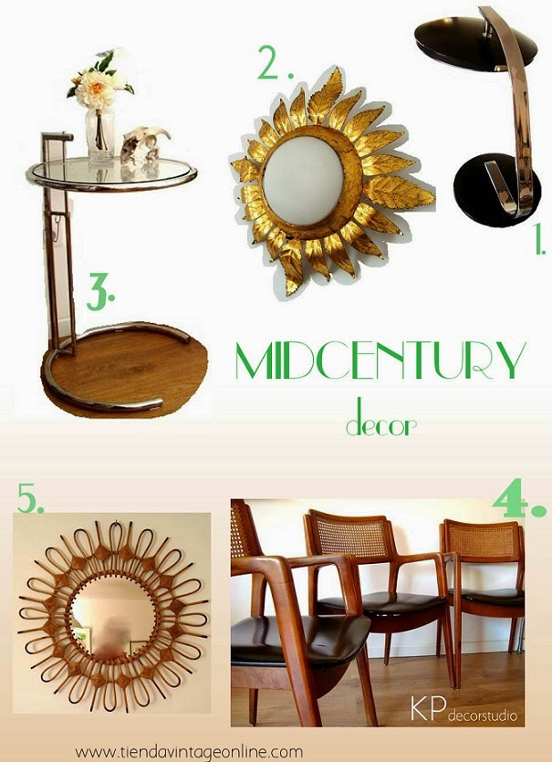 Muebles y lamparas vintage retro años 50