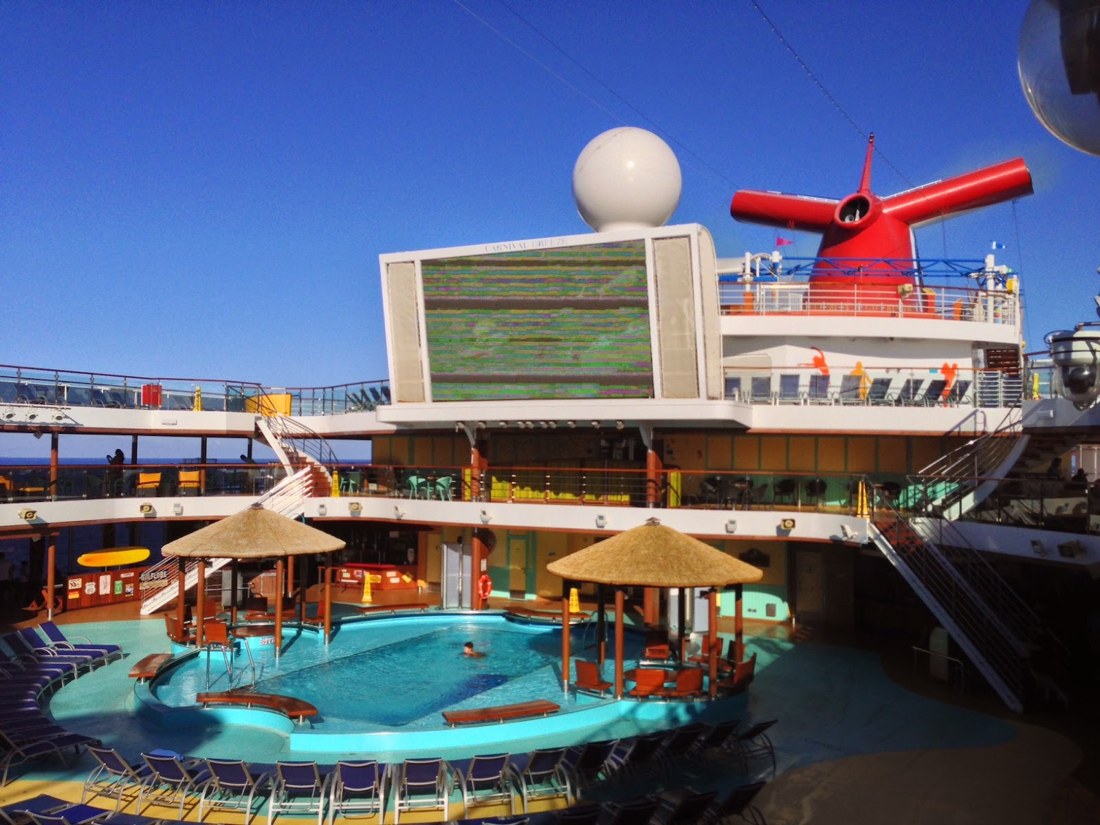 Life In The Barbie Dream House Carnival Breeze Vacation Review - Cruise ship pool table