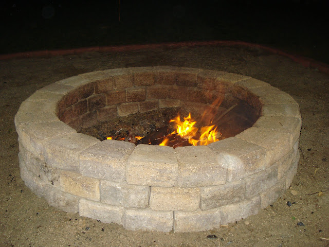 Autumn Night Fire Pit : D and b backyard fire pit