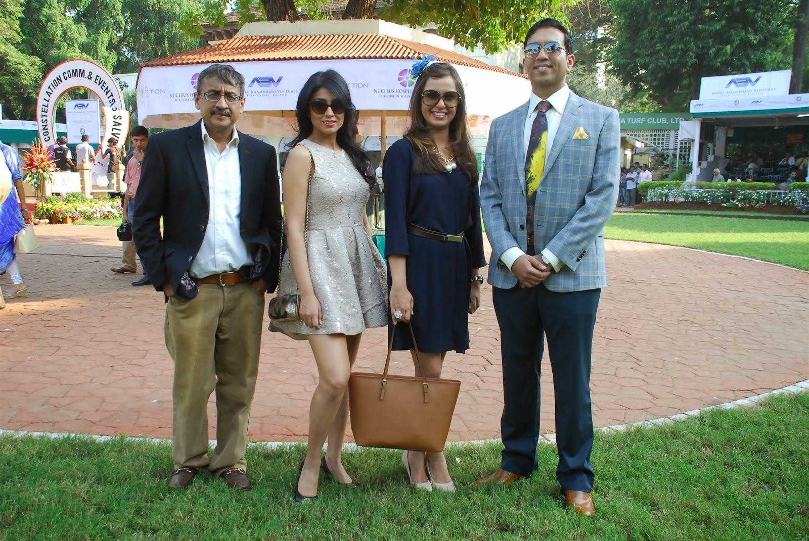 Shriya Saran in Micro Mini Dress at ABV Nucleus Indian 2000 Guineas Event Mumbai