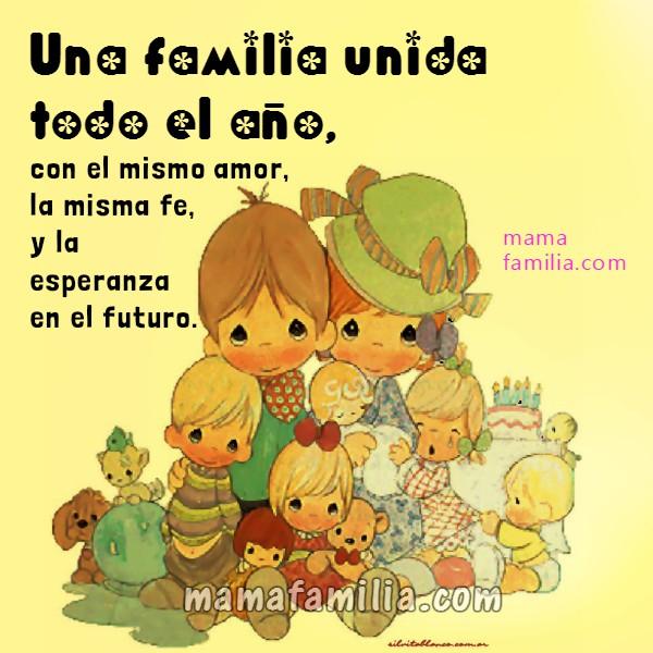 Frases familia todo el año nuevo, imagen con mensaje cristiano amor de familia, imagen para mis hijos, palabras para hermanos, hijos por Mery Bracho.