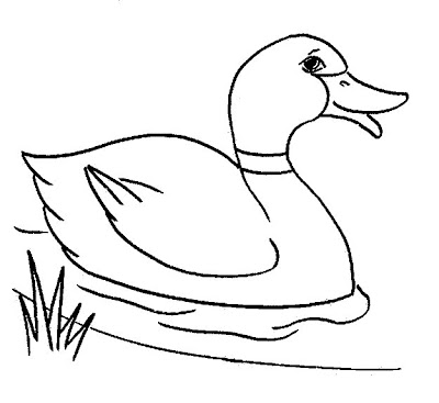 Line Drawing :: Clip Art :: Duck