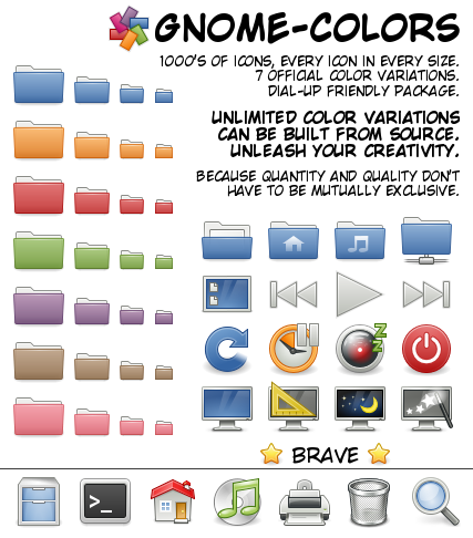 Tema ikon GNOME Colors