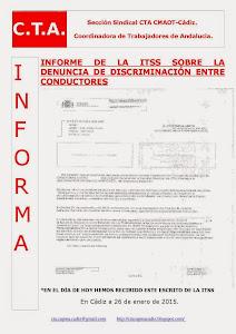 INFORME DE LA ITSS SOBRE LA DENUNCIA DE DISCRIMINACIÓN ENTRE CONDUCTORES
