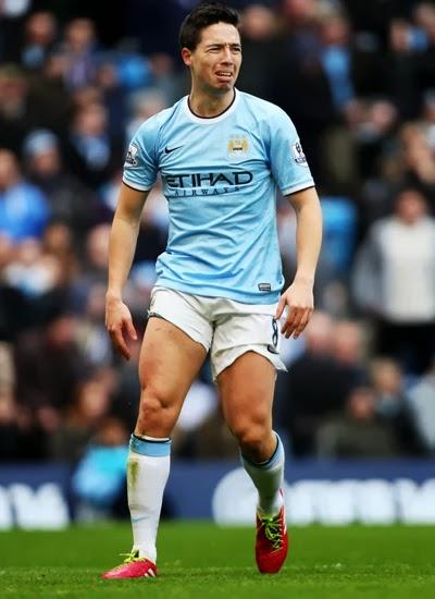 Samir Nasri Manchester City Midfielder 20132014