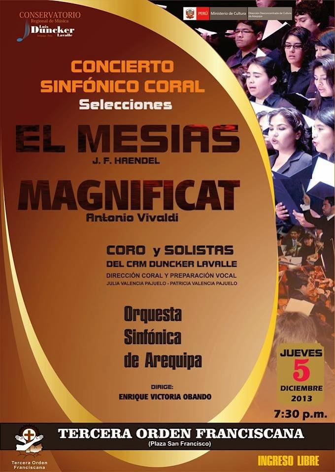 Concierto Sinfónico Coral - 05 diciembre