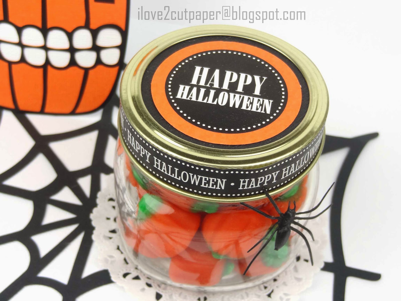 Halloween topper stickers for glass jar