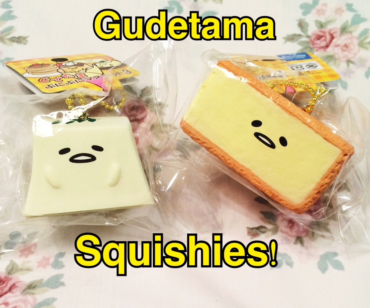 Peach Booty Reviews (  ?  ): Gudetama squishies! from Silly Squishies store Review