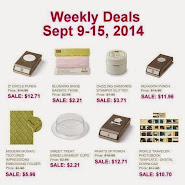 Items on Sale! Sept 9 to Sept 15