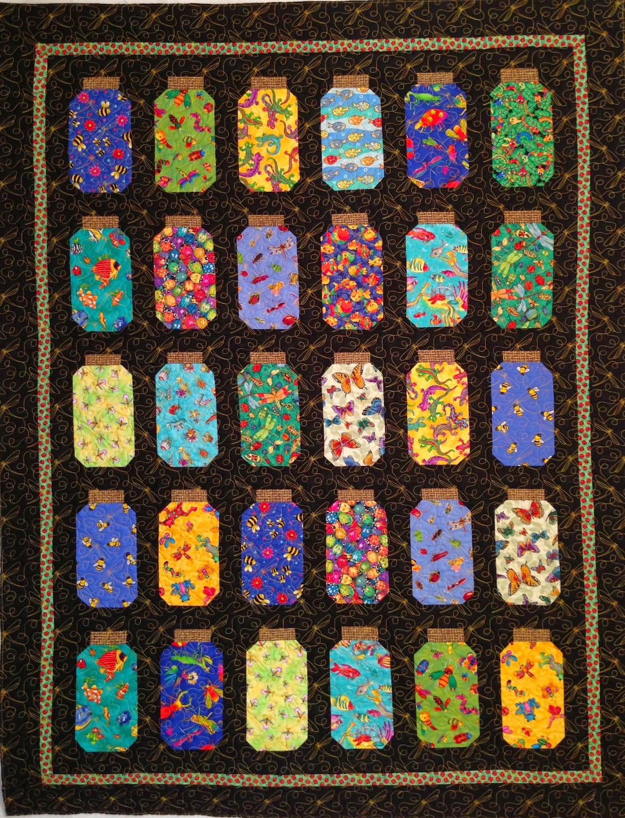 Pearl Combs's Bug Jar Quilt