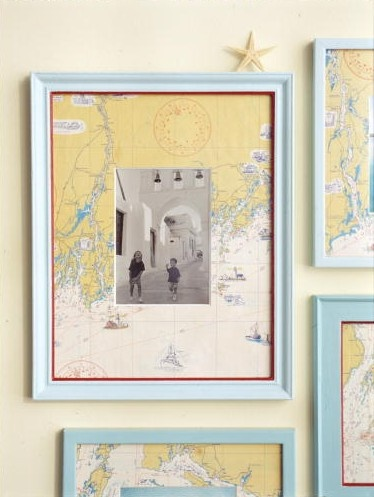9 Super Easy DIY Home Decor Projects You Can Make This Weekend | Map Photo Mats | zenshmen.com via UptownDIY