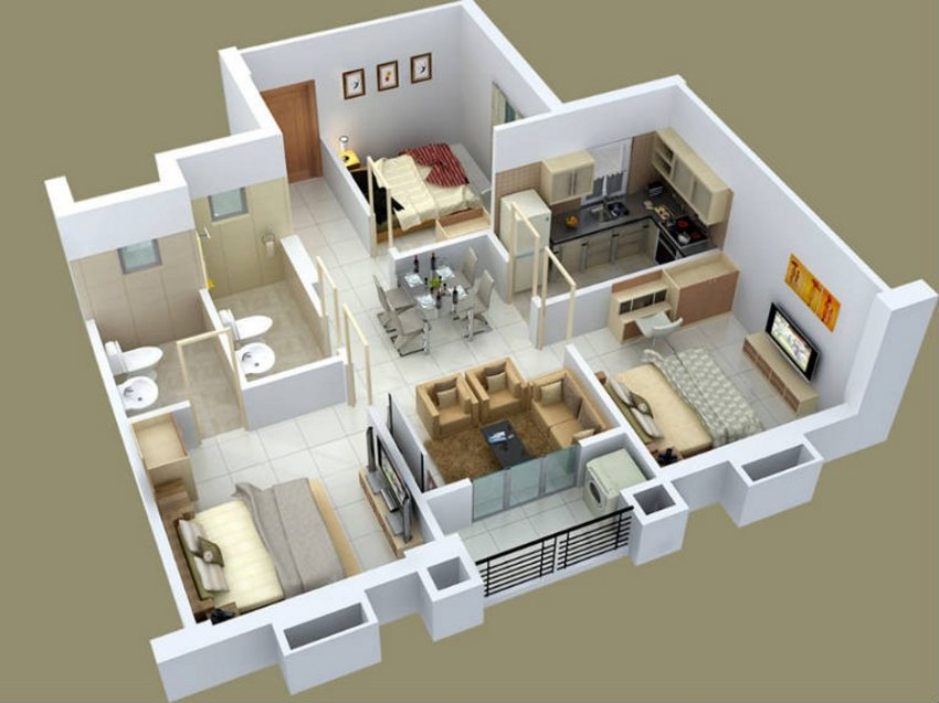 3D Floor Plan On Architectural 5