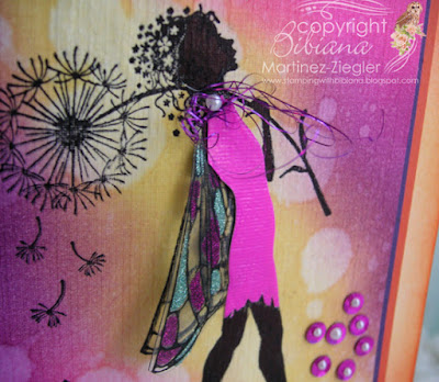 lavinia bright colors distress inks make a wish stamp dress