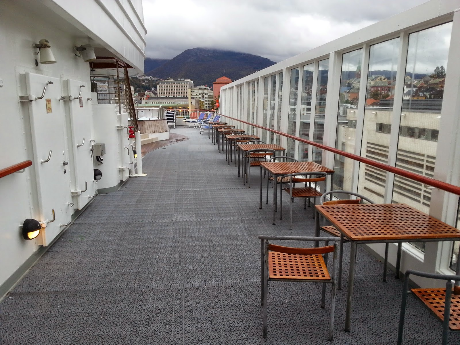 Hurtigruten MS Finnmarken - Outdoor Seating Babettes Cafe
