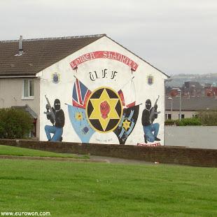 Mural dedicado al UFF en Belfast