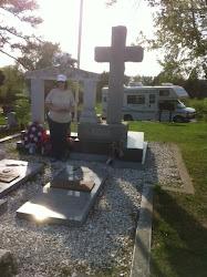 At the York gravesite