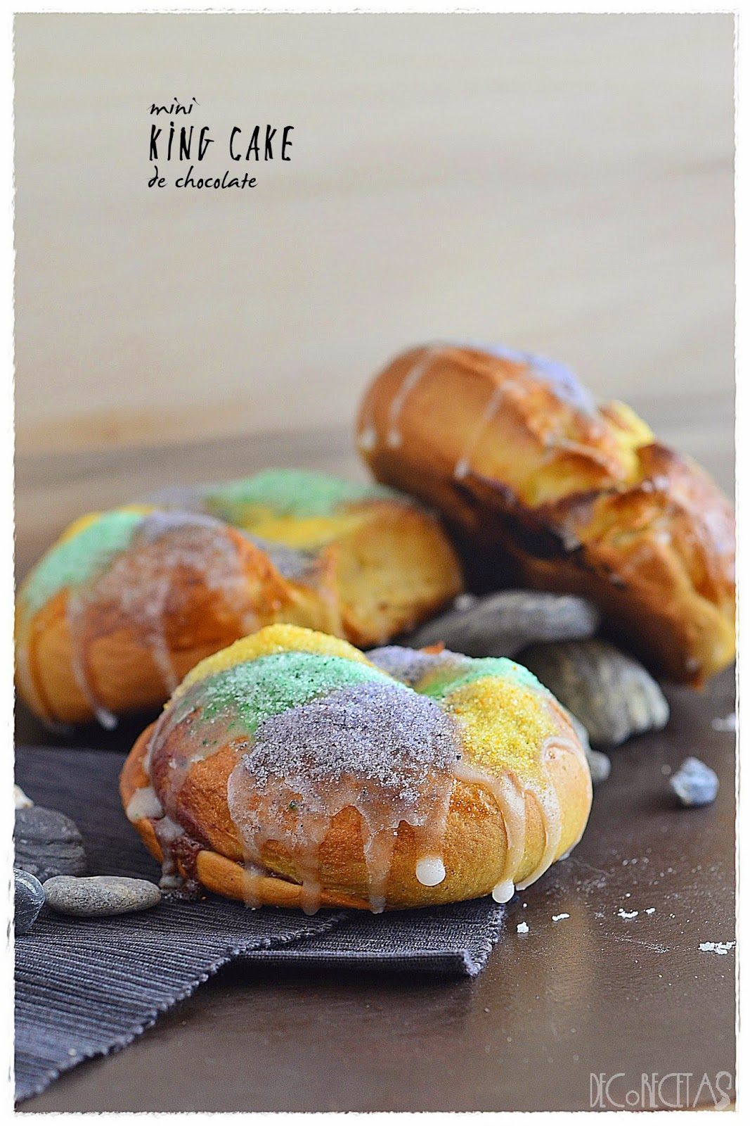 Mini King Cake de chocolate